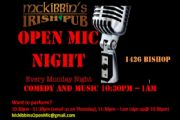 Open Mic Night | every Monday night on Bishop | McKibbins Irish Pub is the Montreal Irish Pub & Bar. The best bar & pub food in the Montreal area with an irish twist, live bands & over 24 beers on tap. | McKibbin's Irish Pub